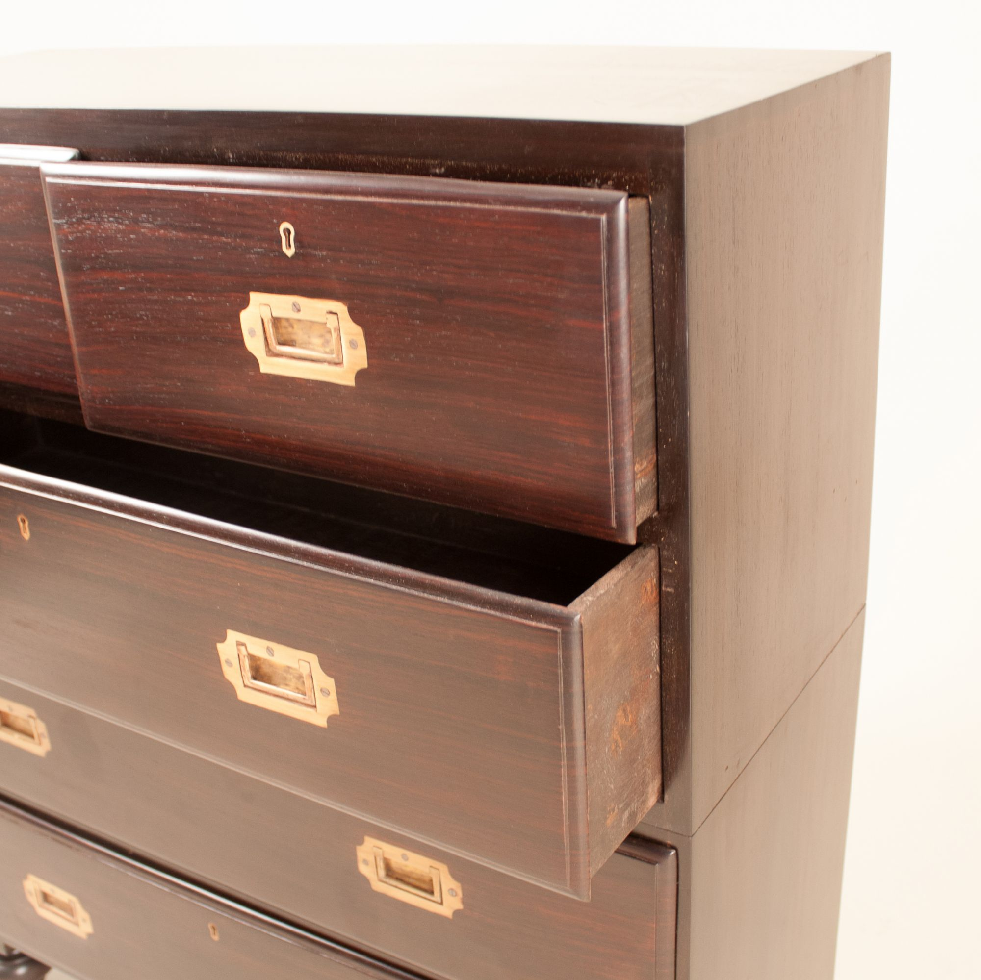 ... British Colonial Campaign Style Chest Of Drawers In Rosewood ...