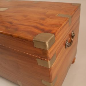 English Camphor Wood Captain's Chest
