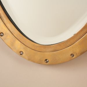 Brass Ship's Window Mirror