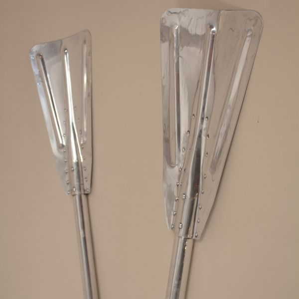 Pair of Mid-Century Aluminum Lifeboat Paddles
