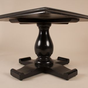 Mid-Century Ebonized Cocktail Table With English Tiles