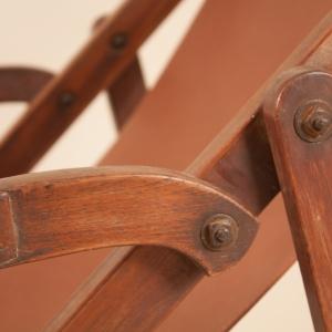 British Campaign Plantation Lounge Chair