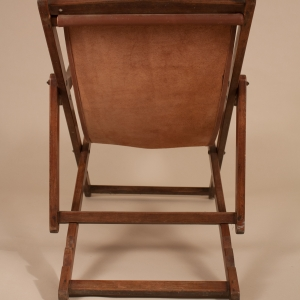British Campaign Plantation Lounge Chair