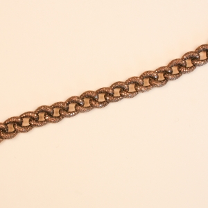 Diamond and Sterling Silver Chain Link Bracelet