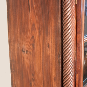 British Colonial Rosewood Cabinet with Glass Doors