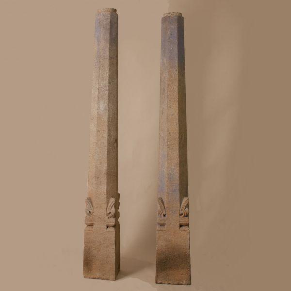 Pair of 19th Century Granite Pillars
