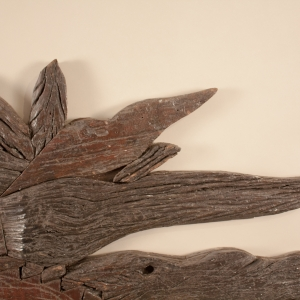 Primitive Wood Wall Sculpture or Panel