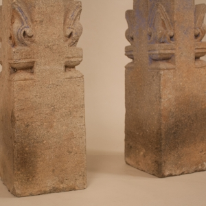 Pair of 19th Century Granite Pillars