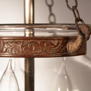 19th Century English Globe Bell Jar Lantern