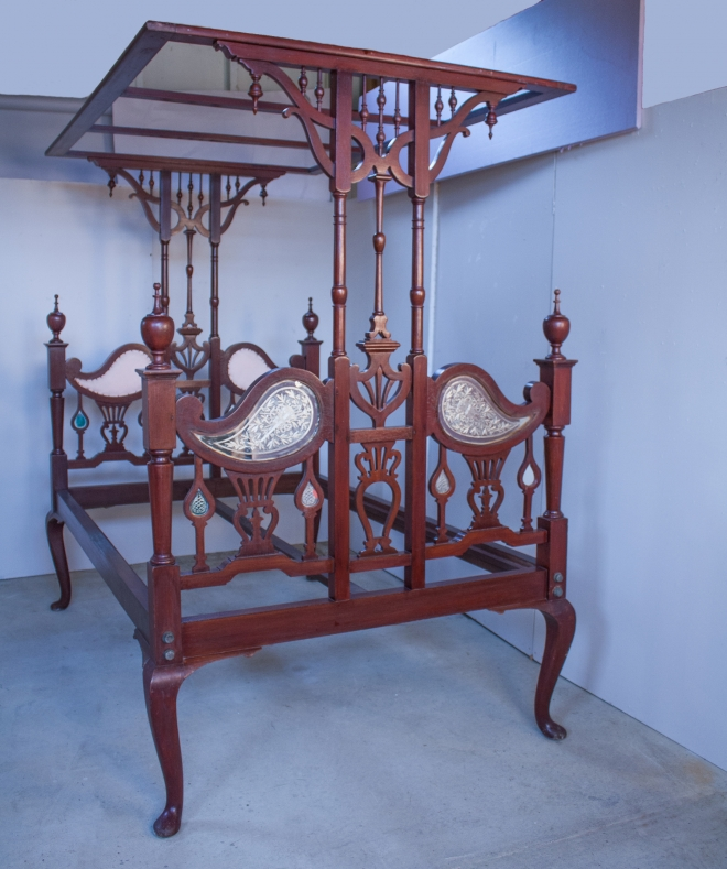 Anglo-Indian Mahogany Tester Bed