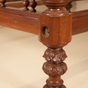 Anglo-Indian Mahogany Four Post Tester Bed