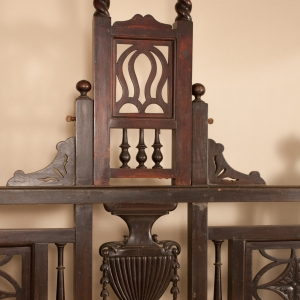 "Anglo-Indian Mahogany ""Grecian Urn"" Tester Bed"