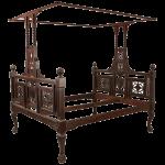 "Anglo-Indian Mahogany ""Grecian Urn"" Tester Bed"