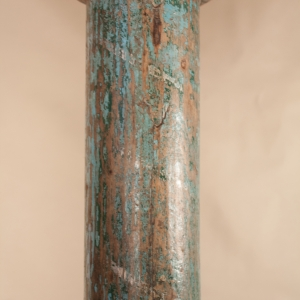 Pair of Painted, Carved Teak Wood Columns from Gujarat, India