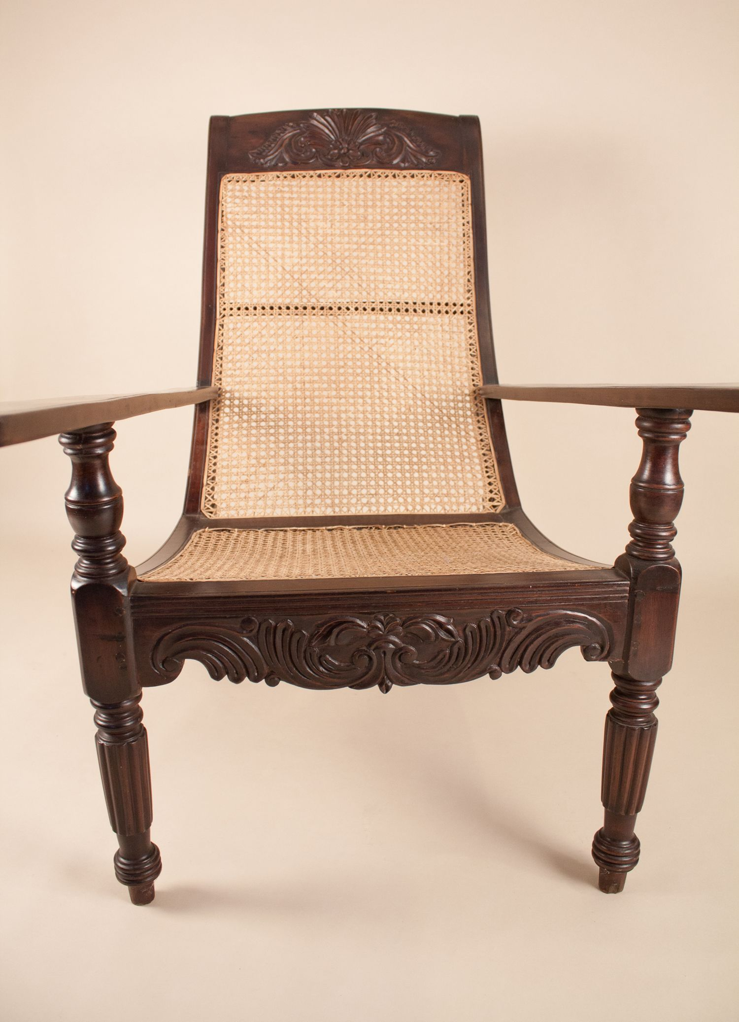 ... Antique British Colonial Plantation Chair ... - Antique Anglo-Indian Exotic Hardwood Caned Planters Chair Or