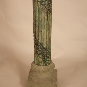 Pair of Carved, Painted Wood Columns from India