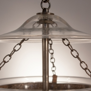 Antique Clear Glass Bell Jar Lantern
