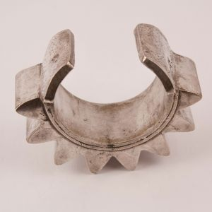 Tribal Silver Indian Cuff Bracelet
