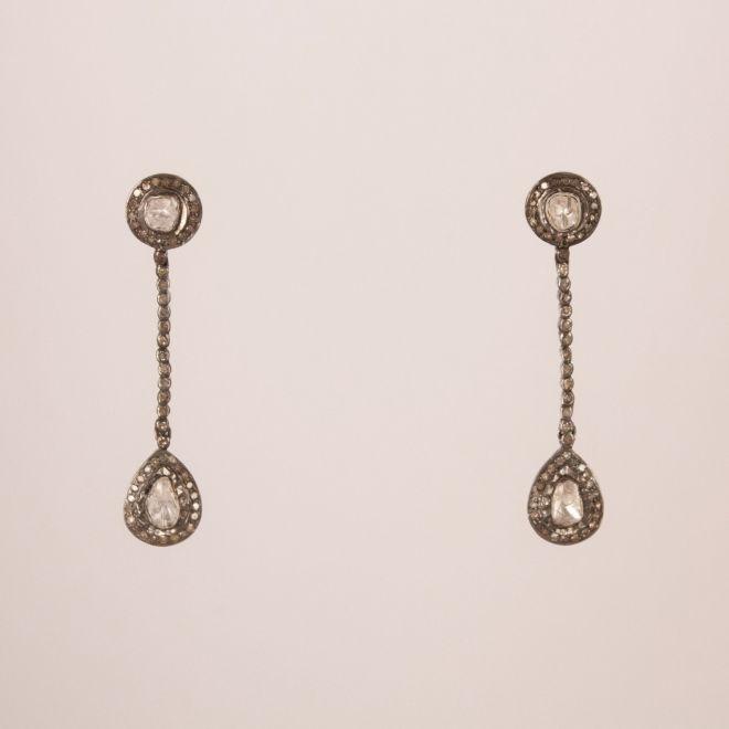 Diamond Polki Dangle Earrings