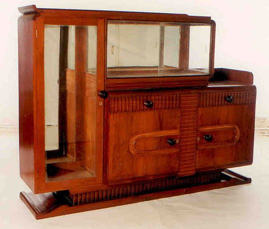 Art Deco Teak Display Cabinet Fair Trade Antiques