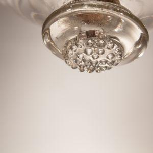 Bell Jar Lantern with Cut Glass Etching