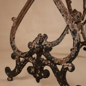 Early Twentieth Century Painted Iron Garden Table Base