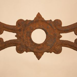 Mid-Twentieth Century Rusted French Iron Garden Table Base