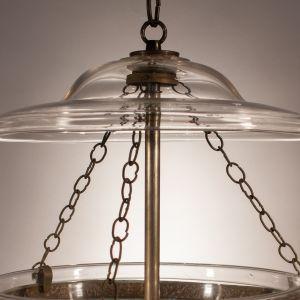 19th Century Bell Jar Lantern with Diamond Etching