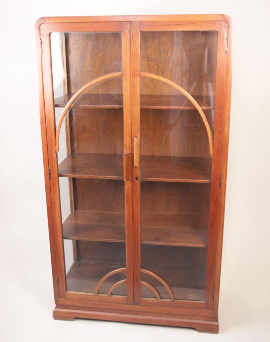 Art Deco Teak Bookcase Fair Trade Antiques