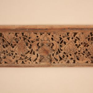 19th Century Carved Teak Wood Mogul Panel from India