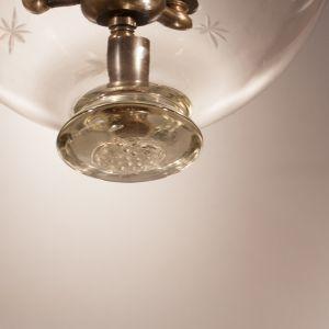 Set of Three Bell Jar Lanterns with Star Etching