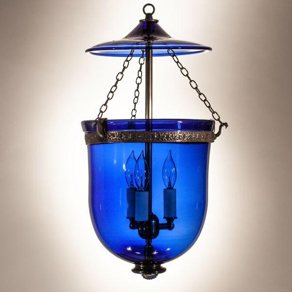 Sapphire Blue Bell Jar Lantern
