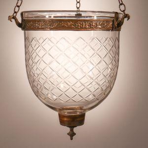 Petite Bell Jar Lantern with Diamond Etching