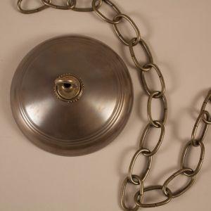 19th Century Belgian Cranberry Glass Globe Bell Jar Lantern