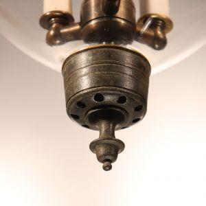 Antique English Clear Glass Bell Jar Lantern