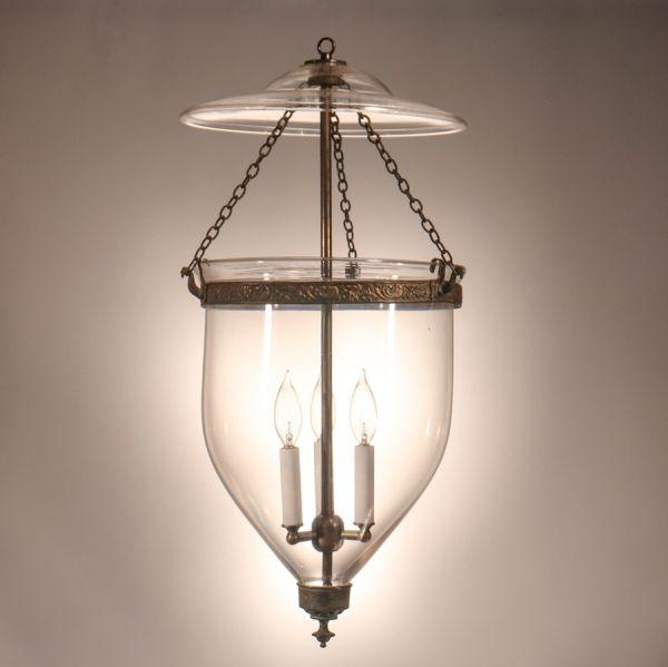 Mid-19th Century Clear Glass Bell Jar Lantern