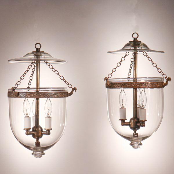 Pair of Petite Bell Jar Lanterns