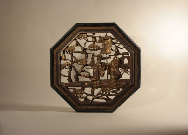 19 c. Chinese Hand Carved Panel